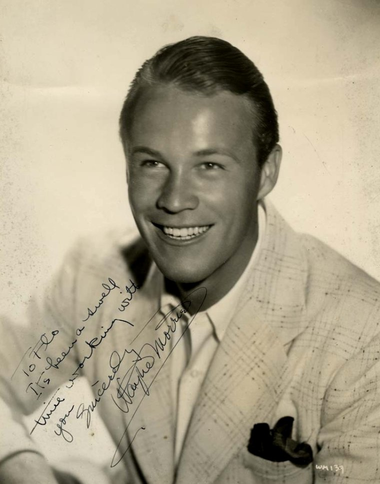 "Wayne MORRIS (Born : Bert DeWAYNE MORRIS,  February 17, 1914 in Los Angeles, California, USA,  Died : September 14, 1959 (age 45) in Oakland, California, USA)  Height : 6' 2"" (1,88 m)"