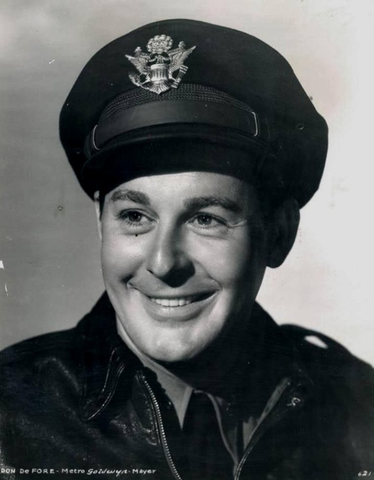 """Don DeFORE (Born : Donald John DeFORE,  August 25, 1913 in Cedar Rapids, Iowa, USA,  Died : December 22, 1993 (age 80) in Los Angeles, California, USA)  Height : 6' 1"""" (1,85 m)"""