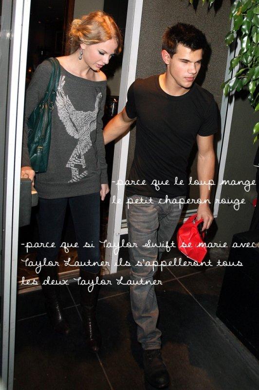 . Taylor Lautner et Taylor Swift  ; pourquoi ne sont-ils pas faits l'un pour l'autre ? .