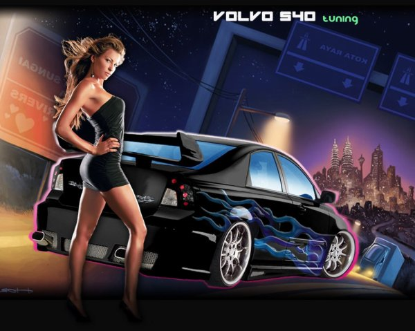 belle voiture de tuning avec une belle femme blog de minimoysdu62980. Black Bedroom Furniture Sets. Home Design Ideas