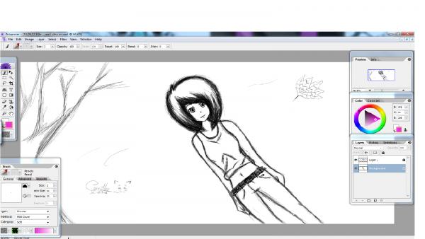 Petit bordels de mes dessins à la tablette graphique XP