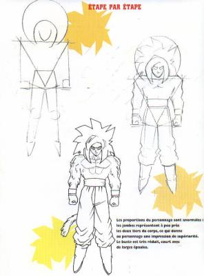 Gut gemocht comment dessiner sangoku super saiyen 4 - kienzan61 QM26