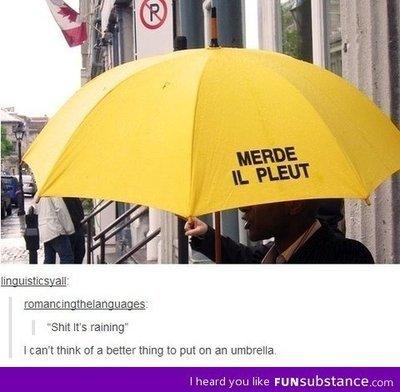 je veux se parapluie