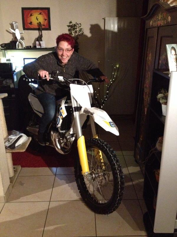 Aujourd hui noel avant l heure j ai recu ma nouvelle moto