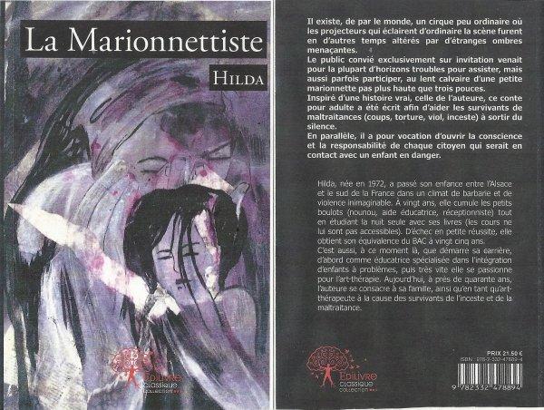 """La Marionnettiste """"conte"""" auteure Hilda aux édition édilivre.com"""