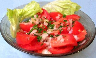 salade de tomate a la vinaigrette