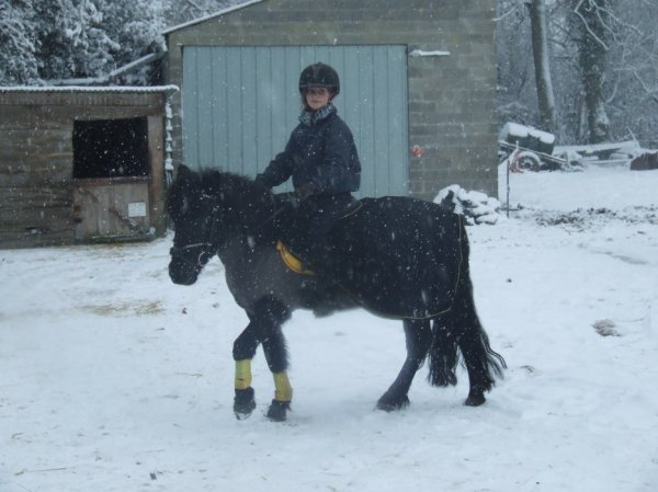 mwa et ptit pilou dans la neige !!