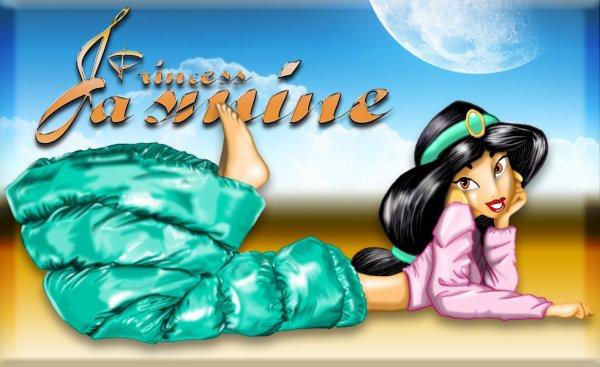 Mon dernier dessin, Jasmine jupe doudoune 2 versions.