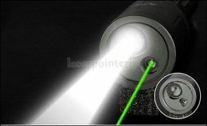 LEDライト付き 緑レーザーポインター
