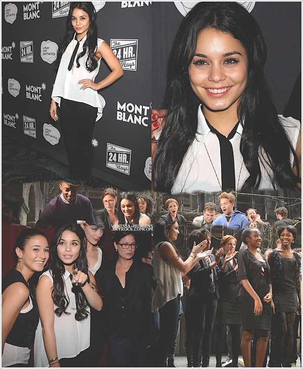 12 novembre 2012  : Vanessa Hudgens présente à l'évenement 24 Hour Plays On Broadway.