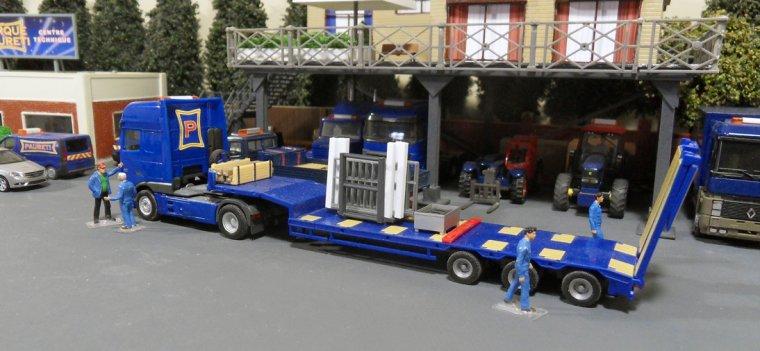 Remorque basse, Transport d'animaux 09