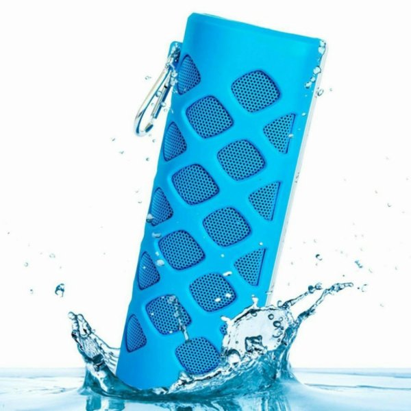 Waterproof Bluetooth Speaker With 5600mah Power Bank Prime. - Blue