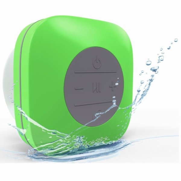 Bluetooth Shower Speaker SpeakStick Classic With Built-In Mic. Green