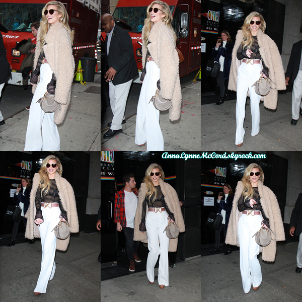 06/02/18 : AnnaLynne se rendait au  Wendy Williams Show  à New-York.  J'aime beaucoup la tenue que porte Anna, c'est un véritable sans faute, top !