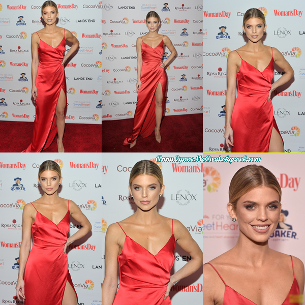06/02/18 : AnnaLynne se rendait à la 15e édition annuelle des  Red Dress Awards  au  Jazz Center  au  Lincoln Center  à New-York.  Anna est vraiment magnifique pour cet événement, je suis complètement fan c'est un joli top !