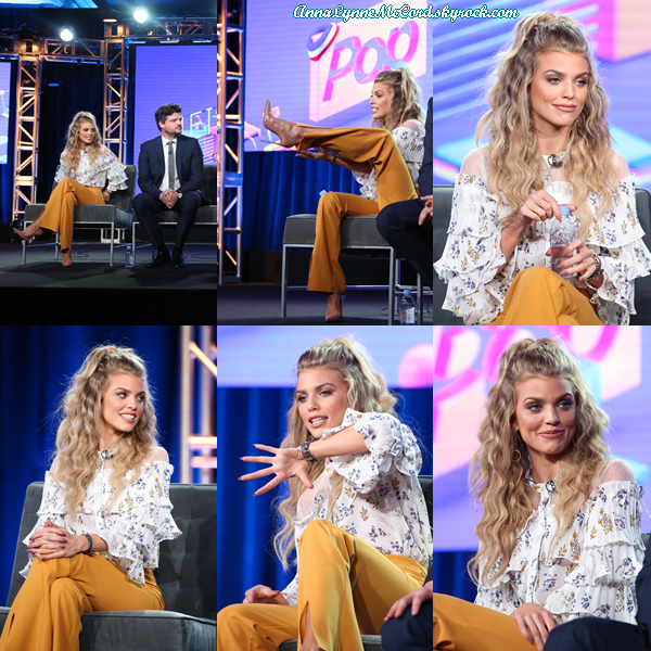 14/01/18 : AnnaLynne se rendait au   TCA Winter Press  afin de parler de la nouvelle série  Let's Get Physical  à Los Angeles.  J'aime beaucoup le style de miss McCord je lui accorde un top sans hésiter parce qu'elle est tout simplement belle  !