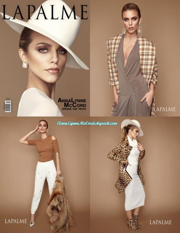 •COVER – 2016 : AnnaLynne pose le magazine LaPalme (Hiver) !