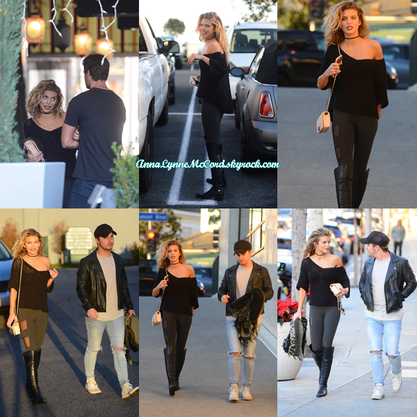 17/12/16 : AnnaLynne visitait   Sunset Plaza  à West Hollywood.