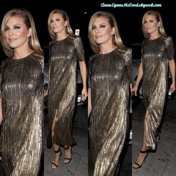 15/08/16 : AnnaLynne assiste à une soirée au  Craig's  à West Hollywood.