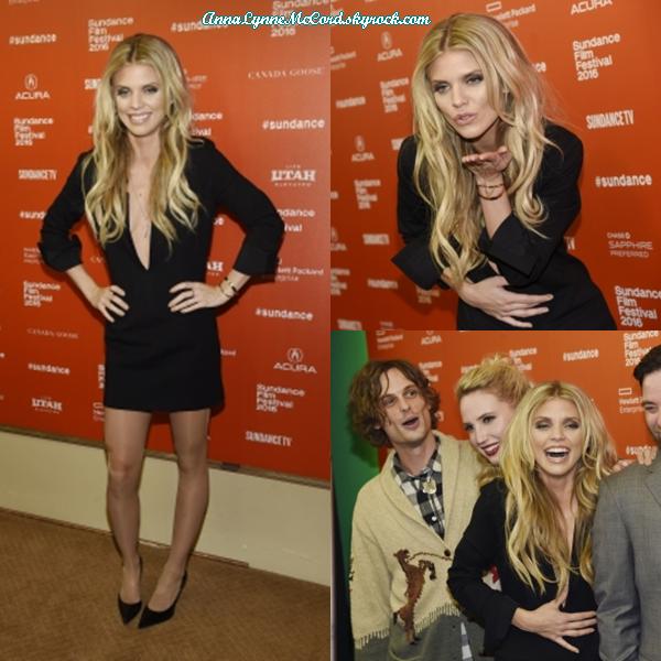 23/01/16 : AnnaLynne assistait à la Première de  Trash Fire  au Sundance Film Festival.