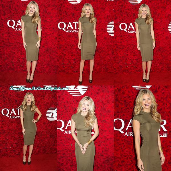 12/01/16 : AnnaLynne se rendait au Gala de  Qatar Airways  à Los Angeles.