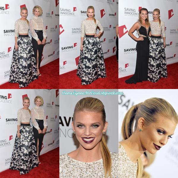 17/10/15 : AnnaLynne assistait au 4e Gala annuel  Saving Innocence  à Los Angeles.