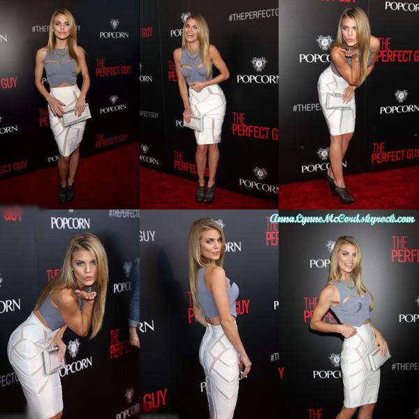 02/09/15 : AnnaLynne assistait à la Première de  Screen Gems « The Perfect Guy »  à Beverly Hills.