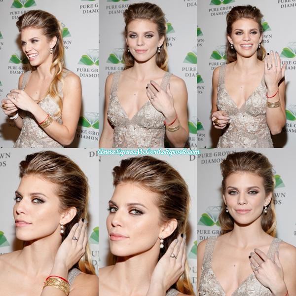 19/02/15 : AnnaLynne aperçue lors du Pré-Oscar Party spécial diamants.