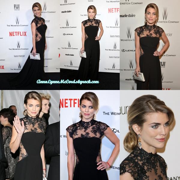 11/01/15 : AnnaLynne aperçue à l'after-party des Golden Globes de  Weinstein Co & Netflix 2015 .