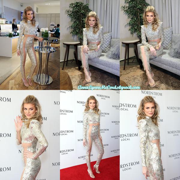 04/03/18 : AnnaLynne assistait aux  Nordstrom Oscar Party  à Los Angeles.  Troisième sortie en deux jours pour miss McCord c'est un plaisir de faire son actualité, tenue très osée mais un joli top !