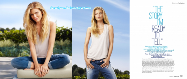 •COVER – 2014 : AnnaLynne pose le magazine Cosmopolitan (Juillet) !