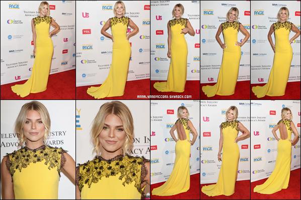 15/09/18 : AnnaLynne à la remise de prix Promotion de l'Industrie de la Télévision 2018 à Los Angeles.  Une tenue vraiment jaune mais AnnaLynne est magnifique pour cette soirée qui se solde par un top ! Petit plus pour la dentelle noire.