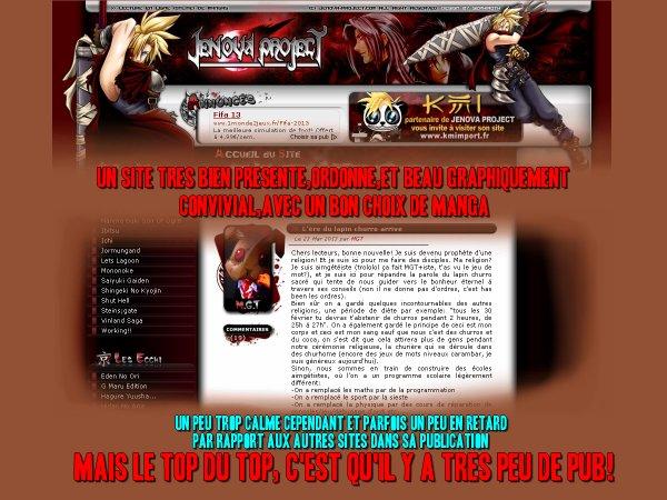 Les sites de mangas en ligne