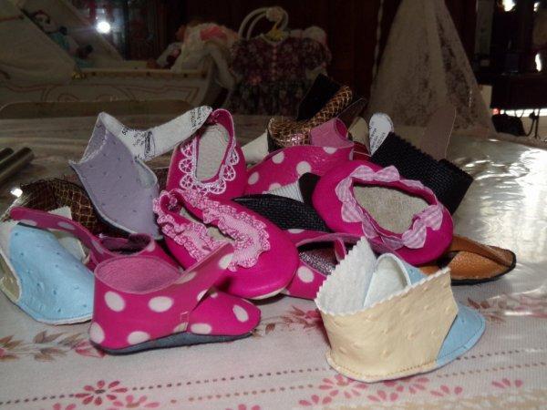 petite chaussures que j ai fait 25 paires !!