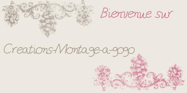 Bienvenue sur mon blog Creations-Montage-a-gogo