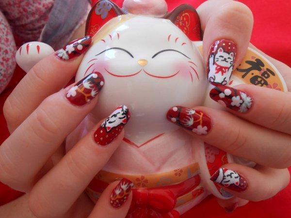 ~ TUTO Nail Art ~ Maneki neko