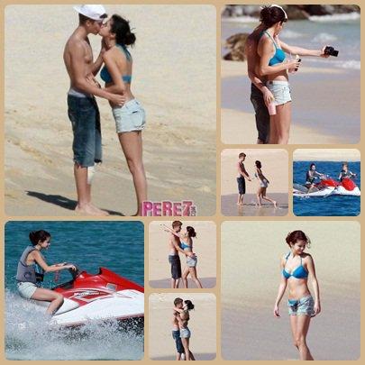 Selena à la plage, de Los Cabos.