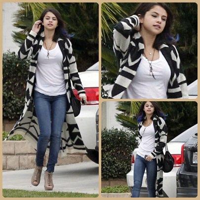 Selena, quittant la résidence d'un ami.