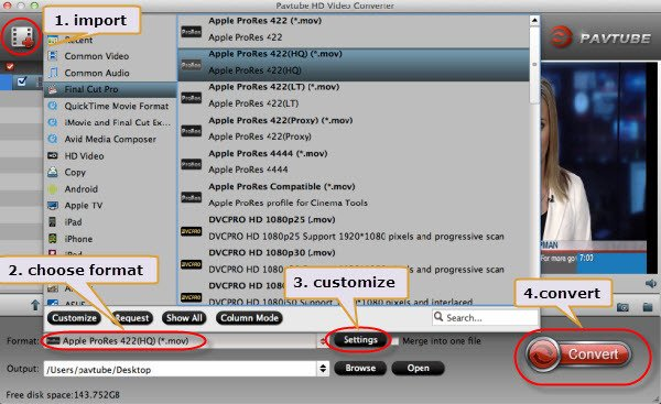 MP4 to ProRes Conversion- Import H.264/MPEG-4 Video Files to FCP