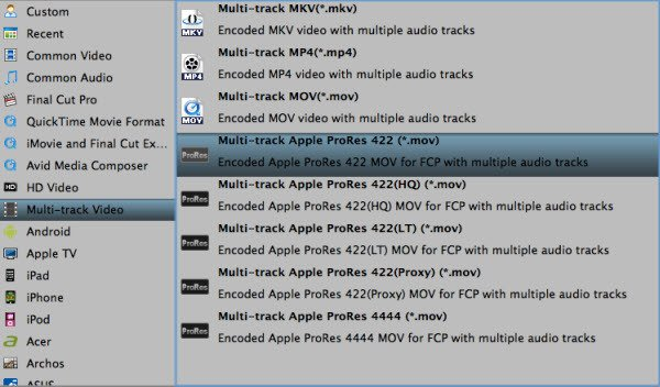 Convert Canon XF100 MXF to multi-track prores 422 for FCP