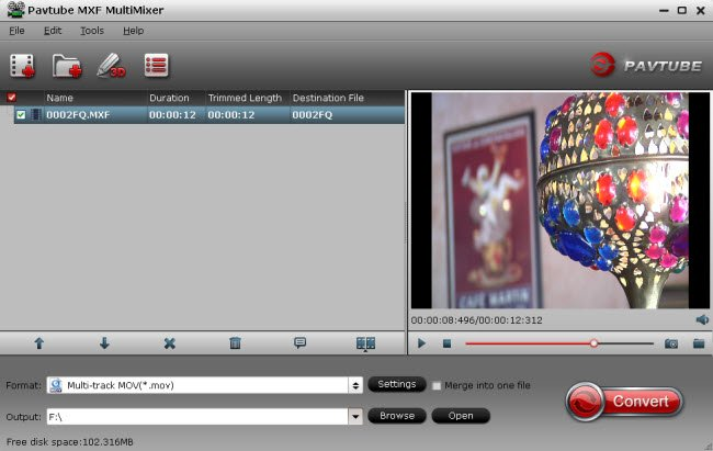 Convert Panasonic P2 MXF for Editing in Sony Movie Studio Platinum 12