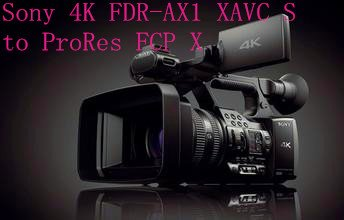 Mac solution to convert Sony AX1 4K XAVC S to FCP X with iMedia Converter for Mac