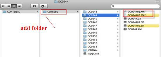 Pull the MXF clips out of separate folders and batch convert MXF to Avid