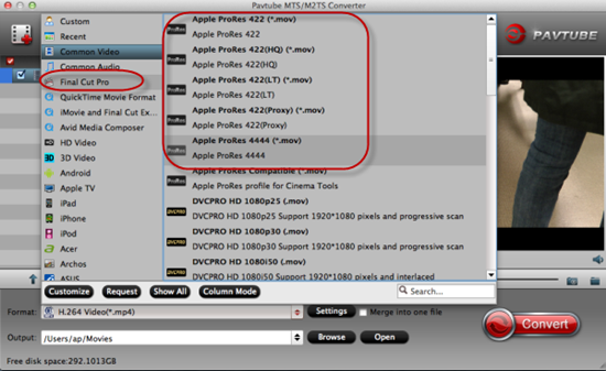 Edit Panasonic HC-X1000 4K MTS in Aperture 3