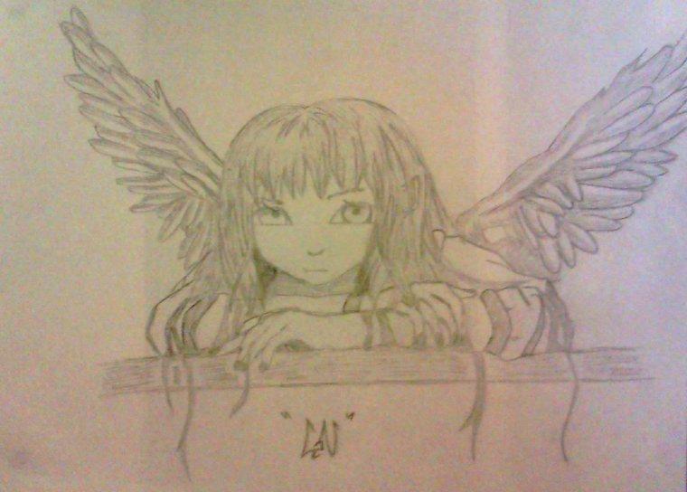 Création d'un petit ange pour ma chérie Noémie