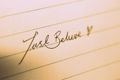 "...""Never Say Never And Believe"" - Justin"