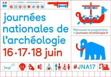 Journées nationales de l'Archéologie du 16 au 18 juin 2017