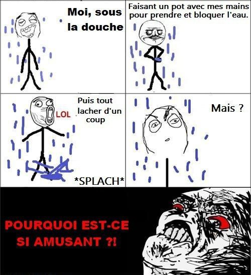 Moi, sous la douche....