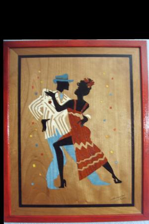 Marqueteries : Danceurs