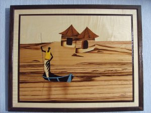 Marqueteries : Tableaux Africains